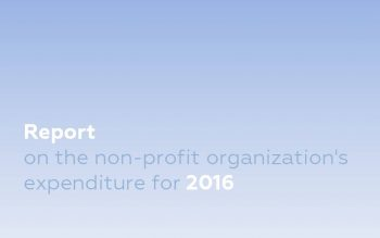 Report on the non-profit organization's expenditure for 2016