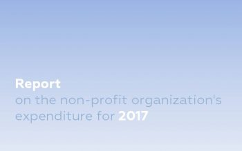 Report on the non-profit organization's expenditure for 2017