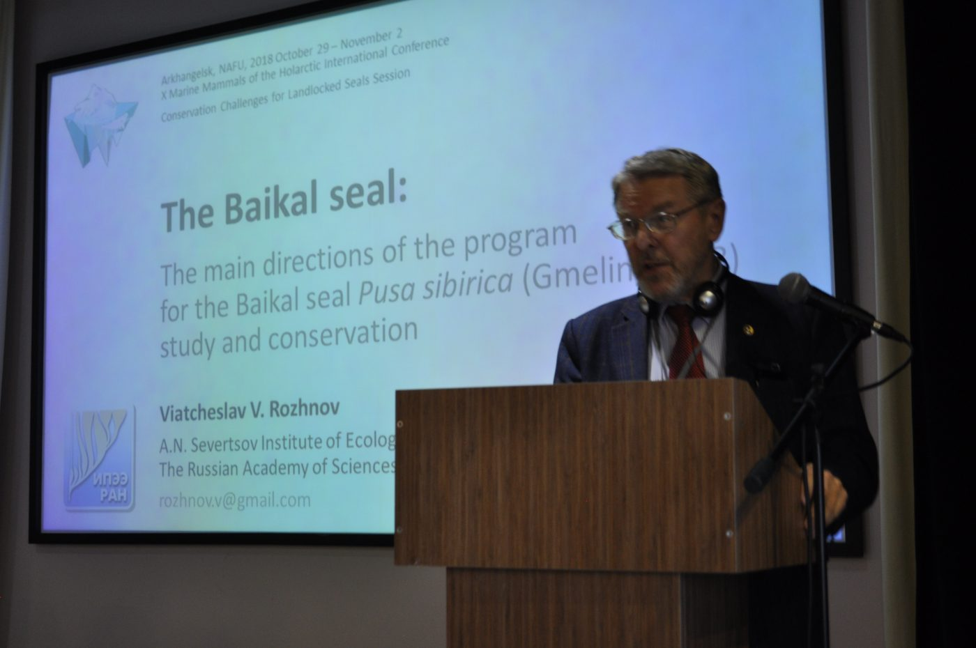 Program on the research of the Baikal seal was presented at 10th International Scientific Conference in Arkhangelsk