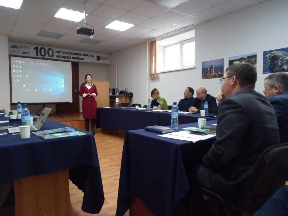 Anastasia Tsvetkova participated in scientific-technical board meeting of «Zapovednoe Podlemorye»