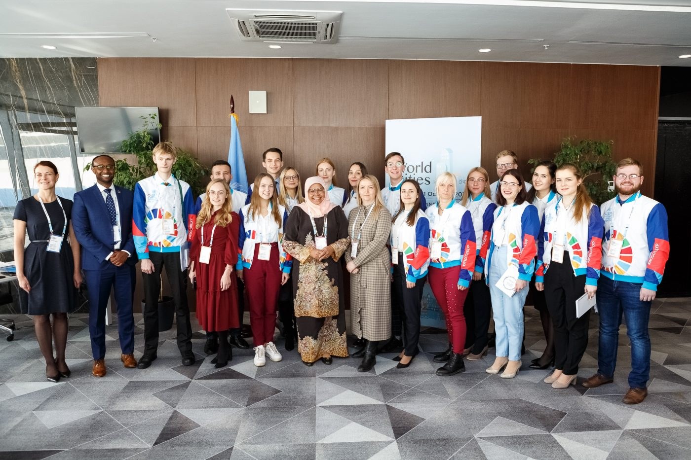 Ekaterina Petrunina spoke at the World Cities Day in Ekaterinburg